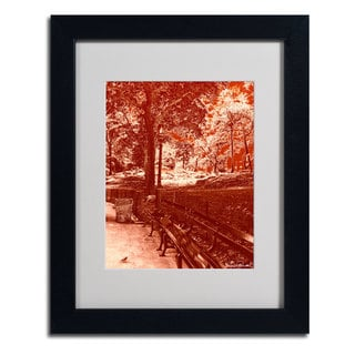 Miguel Paredes 'Red Forest' Framed Matted Art