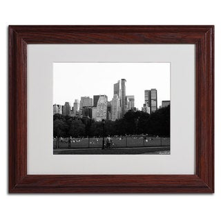 Miguel Paredes 'Sheep's Meadow' Framed Matted Art