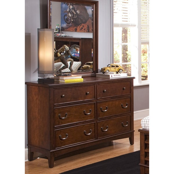 Liberty Chelsea Square 6-Drawer Dresser and Mirror Set