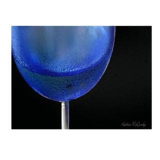 Kathie McCurdy 'Blue Wine Glass' Canvas Art