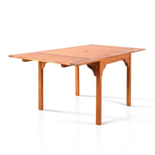 Well Rectangle Oil-rubbed Wood Table