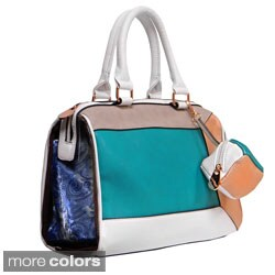 Donna Bella Designs 'Krystal' Medium Colorblocked Satchel