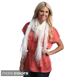 Cashmere Showroom Women's Lattice and Lace Scarf