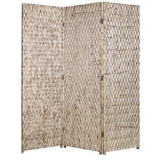 Handmade Sterling 3-panel Wood Screen (China)