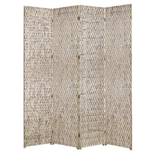 Handmade Sterling 4-panel Wood Screen (China)