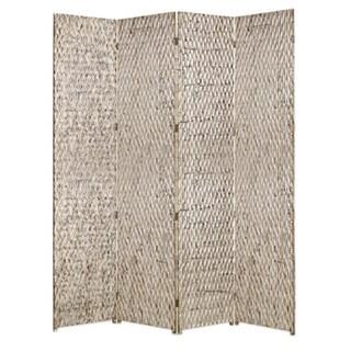 Handmade Sterling 4-panel Wood Screen (China)