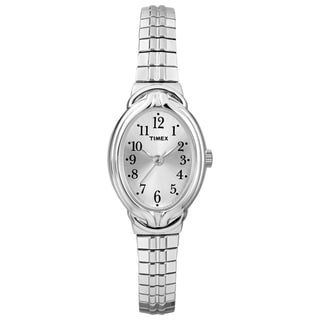 Timex T2N9819J Women's Elevated Classics Oval Expansion Band Dress Watch