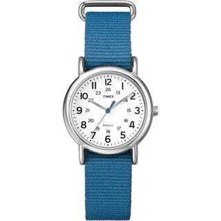Timex T2P2279J Women's 'Weekender' Blue Slip-Thru Nylon Strap Watch