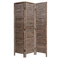 Handmade Hacienda 3-panel Wood Screen (China)