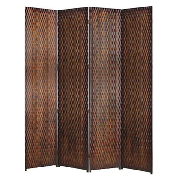 Handmade Danyl 4-panel Wood Screen (China)