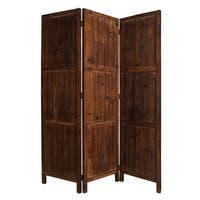 Handmade Ponderosa 3-panel Solid Wood Screen (China)