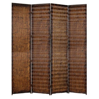Albata 4-panel Wood Screen (China)