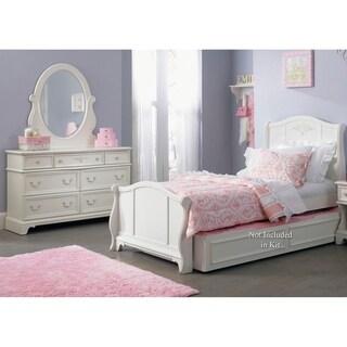 Wonderful Arielle Antique White Wood Dresser And Mirror Set