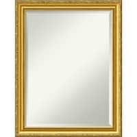 Wall Mirror, Colonial Embossed Gold Wood