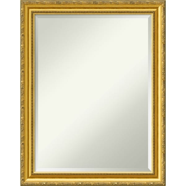 Wall Mirror, Colonial Embossed Gold Wood - Antique Gold