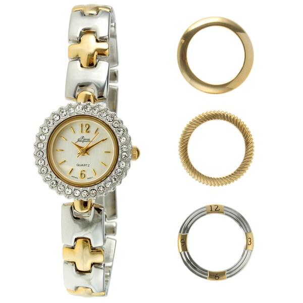 Pierre Jacquard Women's Two-tone Interchangeable Bezel Watch