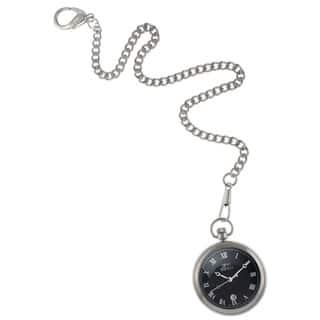 Gino Franco Men's Round Stainless Steel Black Dial Pocket Watch|https://ak1.ostkcdn.com/images/products/8136853/Gino-Franco-Mens-Round-Stainless-Steel-Black-Dial-Pocket-Watch-P15480836.jpg?impolicy=medium