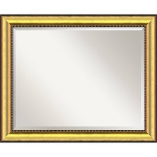 Wall Mirror Large, Vegas Burnished Gold 33 x 27-inch