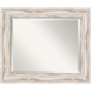 Wall Mirror Medium, Alexandria White wash 21 x 25-inch