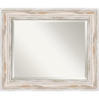 Wall Mirror Medium, Alexandria White wash 21 x 25-inch