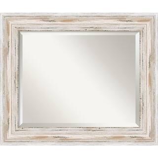 wall mirror alexandria white wash wood white washed - White Framed Mirror