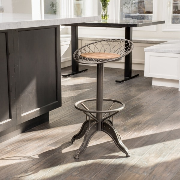 Grayson Industrial Firwood Adjustable Height Bar Stool by Christopher Knight Home. Opens flyout.