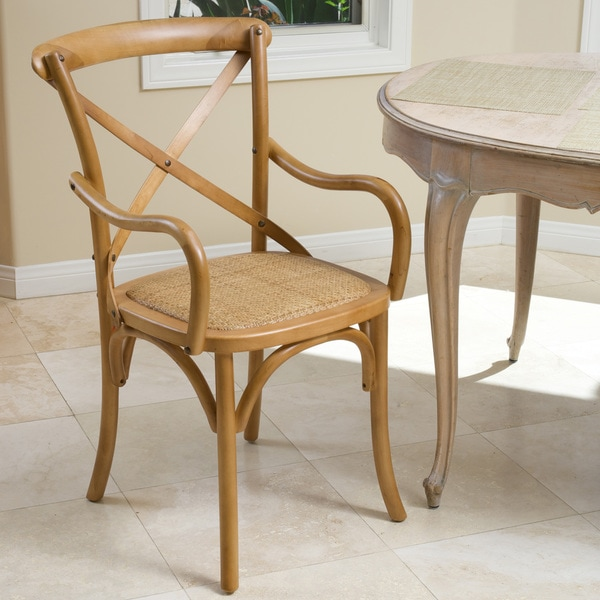 Mandalay Light Brown Dining Chair by Christopher Knight Home