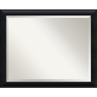 Wall Mirror Large, Nero Black 32 x 26-inch