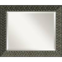 Wall Mirror Medium, Intaglio Antique Black 21 x 25-inch - Antique Black