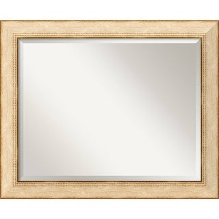 Wall Mirror Large, Highland Park Cream 33 x 27-inch - large - 33 x 27-inch