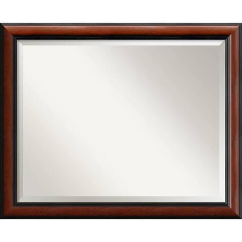 Wall Mirror Large, Regency Mahogany 32 x 26-inch - large - 32 x 26-inch