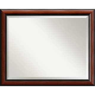 Wall Mirror Large, Regency Mahogany 32 x 26-inch - Black - large - 32 x 26-inch