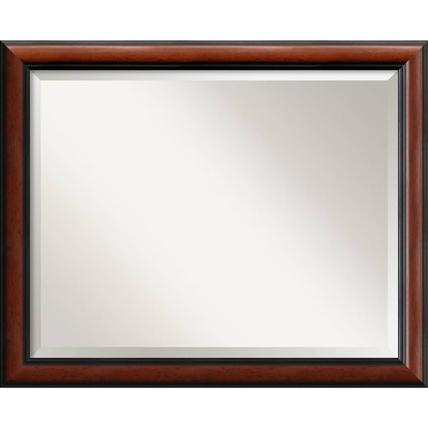 Wall Mirror Large, Regency Mahogany 32 x 26-inch