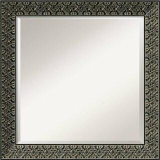 Wall Mirror Square, Intaglio Antique Black 25 x 25-inch - Antique Black