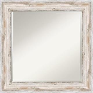 Wall Mirror Square, Alexandria White wash 25 x 25-inch