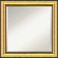 Wall Mirror Square, Vegas Burnished Gold 25 x 25-inch