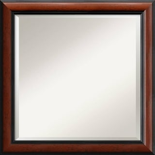 Regency Mahogany 24-inch Square Wall Mirror