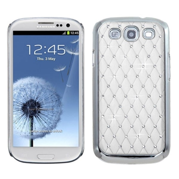 BasAcc Ivory/ White/ Silver Diamond Case for Samsung Galaxy S III/ 3
