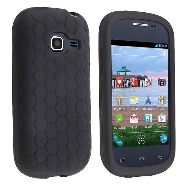 INSTEN Black Soft Silicone Skin Phone Case Cover for Samsung Galaxy Centura S738C