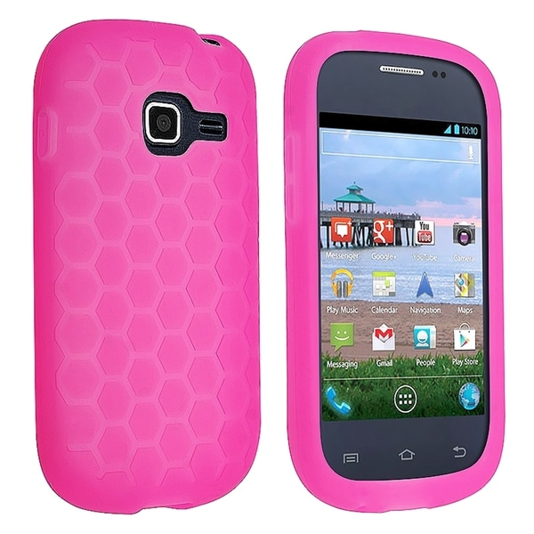 INSTEN Pink Soft Silicone Skin Phone Case Cover for Samsung Galaxy Centura S738C