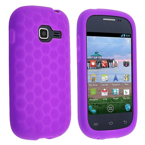INSTEN Purple Soft Silicone Skin Phone Case Cover for Samsung Galaxy Centura S738C