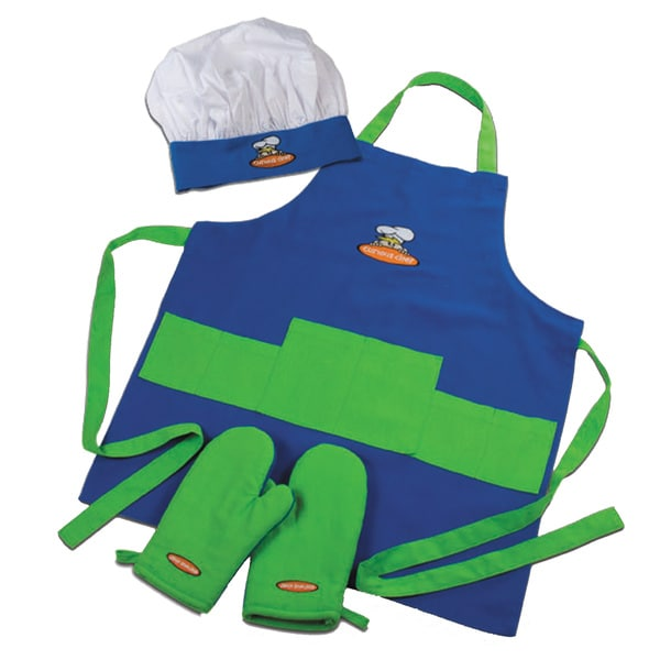 Curious Chef Blue and Green Children's Chef Kit