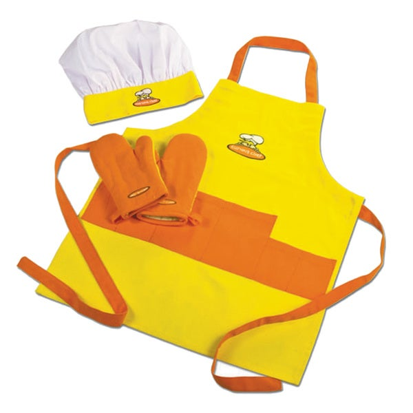 Curious Chef Yellow and Orange Children's Chef Kit
