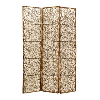 Willow 3-Panel Wooden Screen (China)