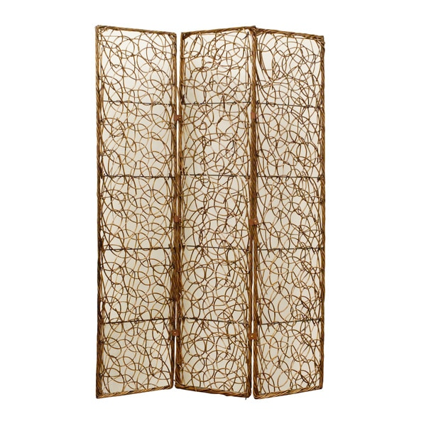 Handmade willow panel wooden screen china free