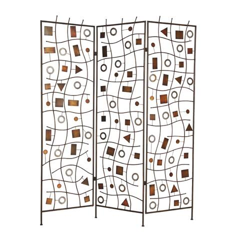 Handmade Morton 3-panel Metal Screen (China) - 72 x 63