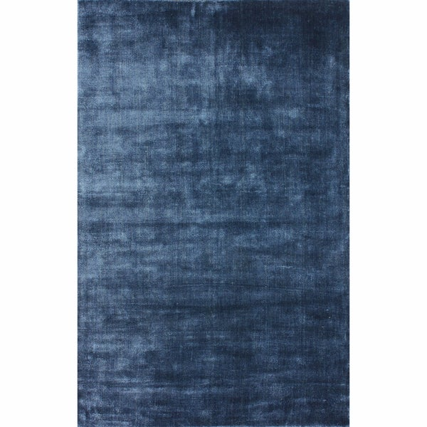 nuLOOM Hand-woven Solid Jute Navy Rug (5' x 8')