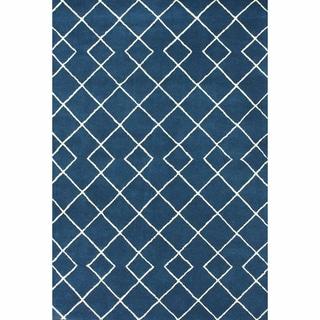 nuLOOM Handmade Modern Trellis Blue Rug (3' x 5')