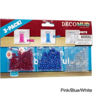 Deco Mud Water Beads for Decoration or Plants 3-color Pack (Pack of 3)