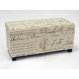 Sign Button Tufted Ottoman Bench